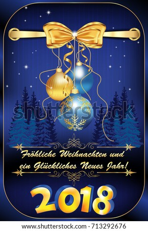 Elegant german christmas new year 2018 stock illustration 713292676 elegant german christmas new year 2018 greeting card merry christmas and happy new year m4hsunfo