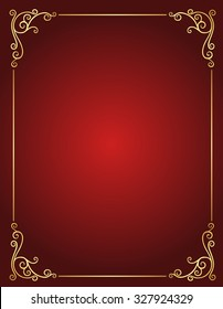 Elegant Gold Red Maroon Color Blank Stock Vector Royalty Free