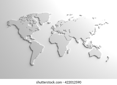 Grayscale world map images stock photos vectors shutterstock elegant gray global 3d map background illustration gumiabroncs Gallery