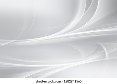 Elegant gray and white perpective waves background.
