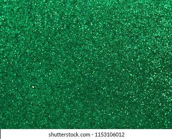 Elegant green glitter bokeh abstract background