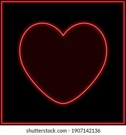 Elegant heart on dark background