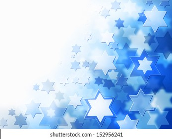 elegant jewish background with Magen David stars and place for text