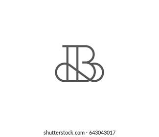 Elegant line curve logotype. Premium letter B logo design. Luxury linear creative monogram.