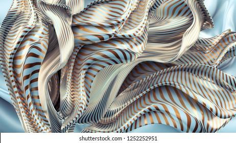 Elegant, luxury silk background. 3d illustration, 3d rendering.