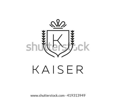 Elegant Monogram Letter K Logotype Premium Stock Illustration