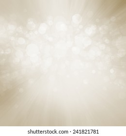elegant off white background with zoom blur effect and layers of round white bokeh lights, glittering shimmer lights in sky