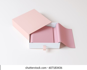 Elegant packaging box 3d rendering