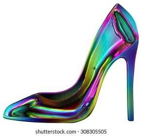 Elegant rainbow shoe