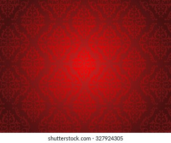 Elegant red shiny damask seamless pattern background. perfect as stylish wedding invitations and other party invitation cards or announcement backgrounds