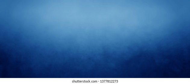 Elegant sapphire blue background with white hazy top border and dark black grunge texture bottom border, luxury royal blue design