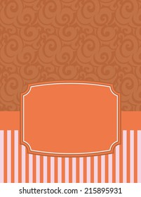 Elegant Striped Notecard-notecard to use for birthday wishes or party invitations