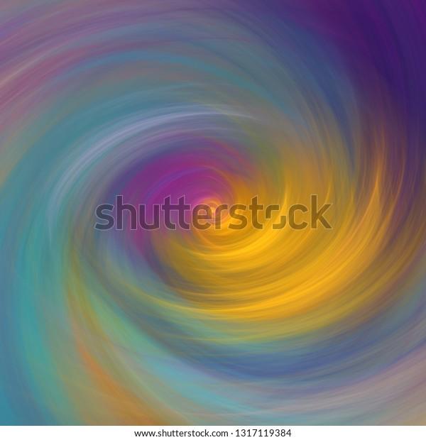 Elegant Swirl Abstract Art Pastel Colors Stock Illustration