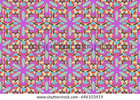 elegant template fashion prints small colorful stock illustration