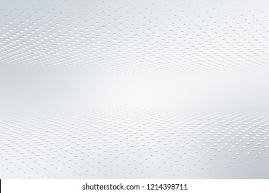 Elegant white gray modern bright halftone dots art background. Business design.
