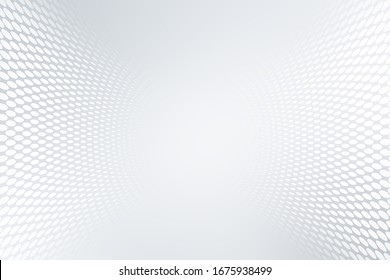 Elegant white gray modern bright wave halftone dotted art background. Business design.