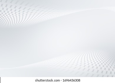 Elegant white gray modern bright wave halftone dotted art background. Business design.