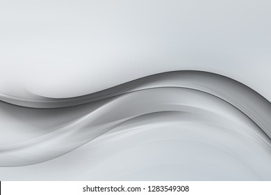 Elegant white grey modern bright hazy waves art. Blurred backdrop effect background. Abstract creative graphic. Decorative wallpaper style.