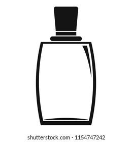 Elegant woman perfume icon. Simple illustration of elegant woman perfume icon for web design isolated on white background