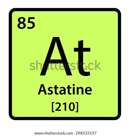 Element Astatine Periodic Table Stock Illustration 298533197