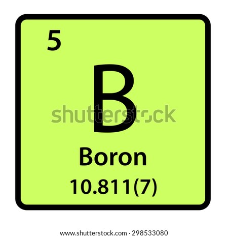 Element Boron Periodic Table Stock Illustration 298533080 Shutterstock