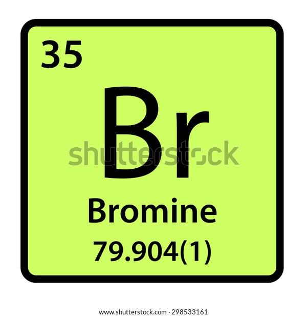 Element Bromine Periodic Table Stock Illustration 298533161