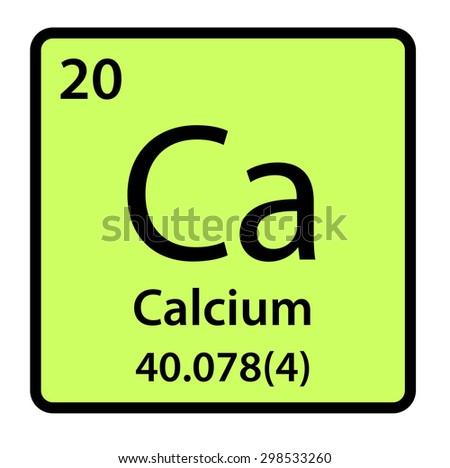 Element Calcium Periodic Table Stock Illustration 298533260