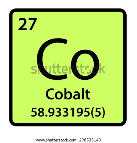 Element Cobalt Periodic Table Stock Illustration 298533143