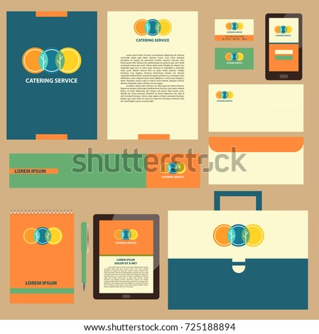 element design template corporate identity banner stock illustration