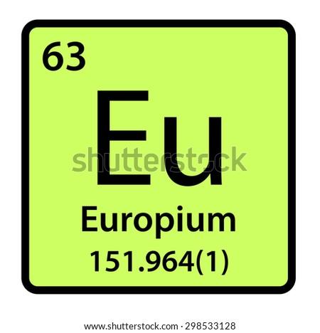 Element Europium Periodic Table Stock Illustration 298533128