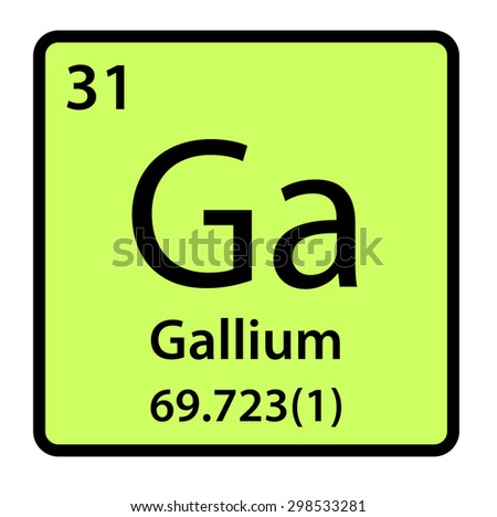 Element Gallium Periodic Table Stock Illustration 298533281
