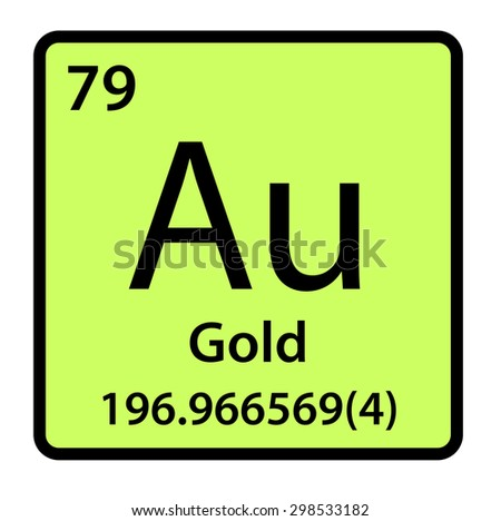 Element Gold Periodic Table Stock Illustration 298533182 Shutterstock
