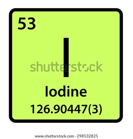 Element Iodine Periodic Table Stock Illustration 298532825