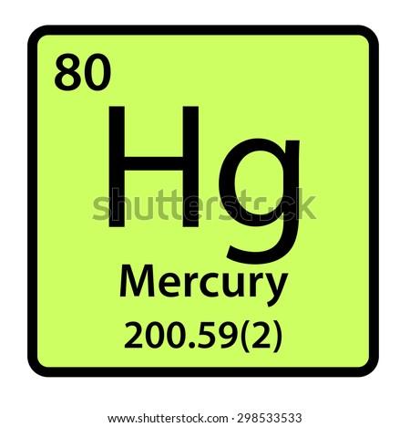 Element Mercury Periodic Table Stock Illustration 298533533