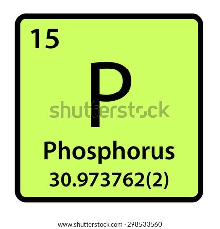 Element Phosphorus Periodic Table Stock Illustration 298533560