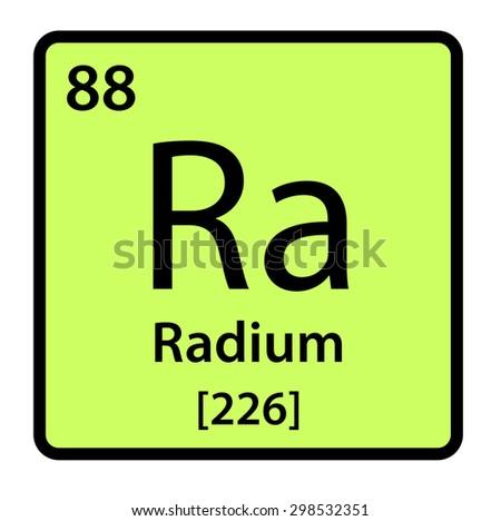 Element Radium Periodic Table Stock Illustration 298532351