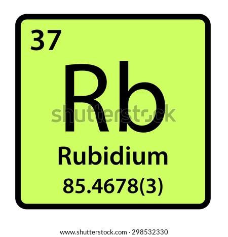 Element Rubidium Periodic Table Stock Illustration 298532330