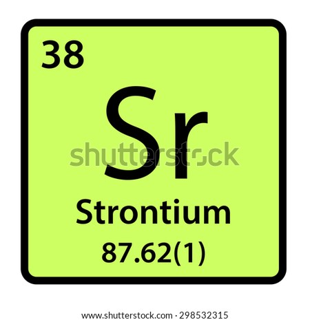 Element Strontium Periodic Table Stock Illustration 298532315