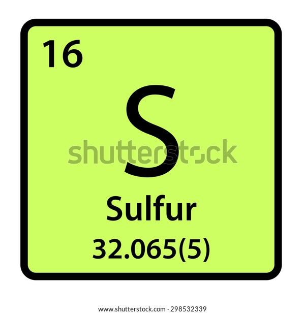 Element Sulfur Periodic Table Stock Illustration 298532339
