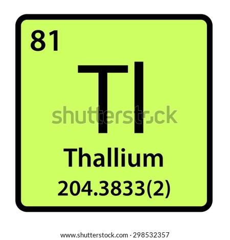 Element Thallium Periodic Table Stock Illustration 298532357