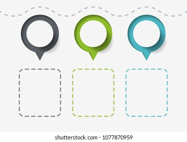 Elements for infographic. Template for diagram, graph, presentation and chart. Business concept with 3 options, parts, steps or processes. Abstract background.