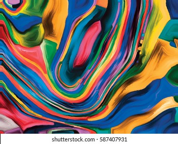 Elements of Microcosm series. Backdrop design of colorful painted texture for works on organic designs, fluid forms and abstract compositions