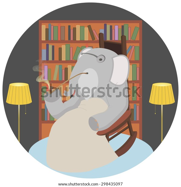 Fabulous Elephant Rocking Chair Stock Illustration 298435097 Gmtry Best Dining Table And Chair Ideas Images Gmtryco