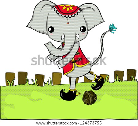 Elephant Symbol Thailand They Big Strong Stock Illustration