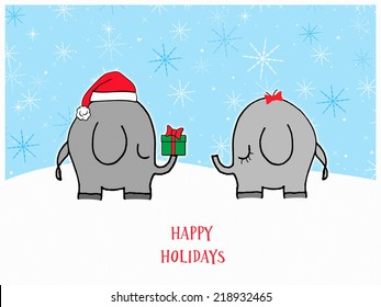 Elephants - Happy Holidays