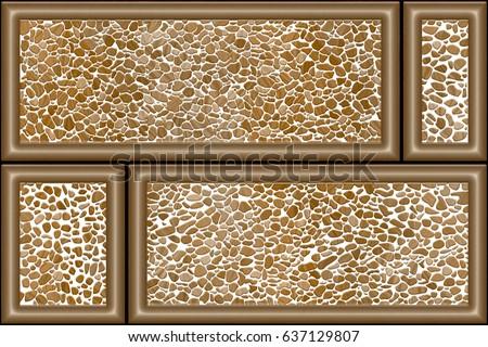 Elevation Wall Tiles Design Pattern Background Stock Illustration
