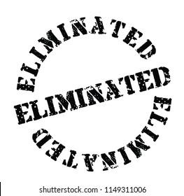 Eliminated stamp on white background