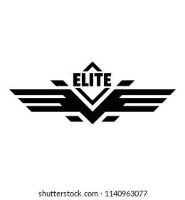 Elite force logo. Simple illustration of elite force logo for web design isolated on white background