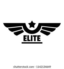 Elite logo. Simple illustration of elite logo for web design isolated on white background