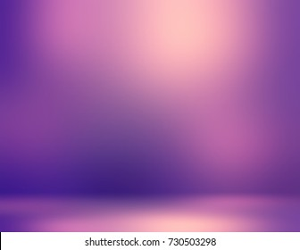 Elite purple room interior. Luxury wall abstract texture. Purple wall empty background. Golden glow on violet defocused background. 3d illustration elite room decor.
